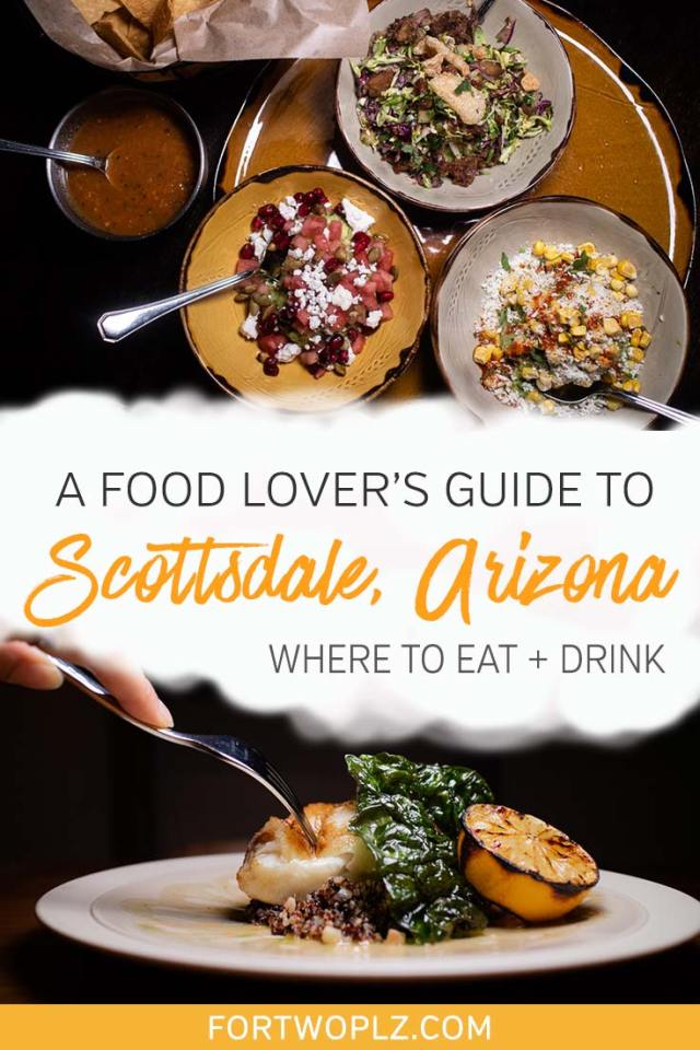 Scottsdale, Arizona is an up-and-coming foodie destination. Where should you start? We've got you covered! This foodie guide highlights our top recommendations for the best restaurants in Scottsdale. Click through to discover the best places to eat in Scottsdale.  #explorearizona #scottsdale #travel #foodietravel