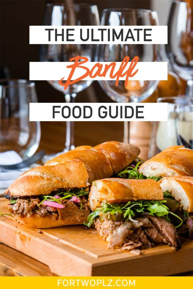 Planning a trip to Banff, Canada? This food guide features 10+ best restaurants and bars in Banff recommended by locals. Discover Banff's best coffee shop and food tour to taste your way through this beautiful mountain town. You also do not want to miss the foodie festivals happening throughout the year! #foodguide #foodtravel #culinarytravel #banff #canadaroadtrip #canadianrockies