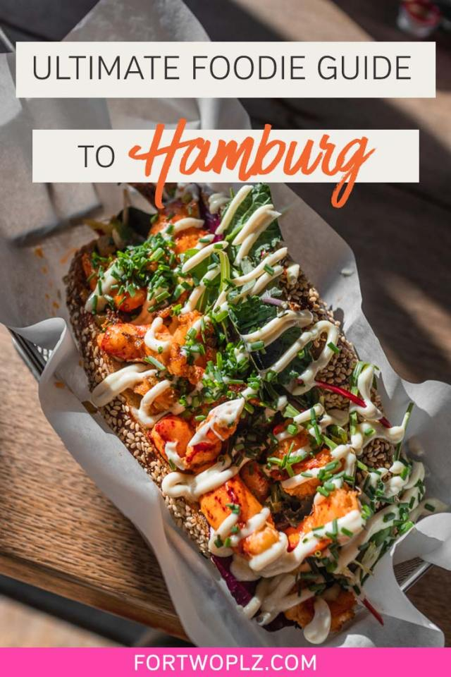 Planning a trip to Hamburg, Germany? Save yourself from mediocre currywvrst with this foodie guide to the best food and drink in Hamburg. We cover the best places to eat, top michelin star restaurants, trendy coffee shops, local markets and traditional german dishes to try in this port city!#foodguide#foodtravel#culinarytravel#hamburg #germanytravel #europe