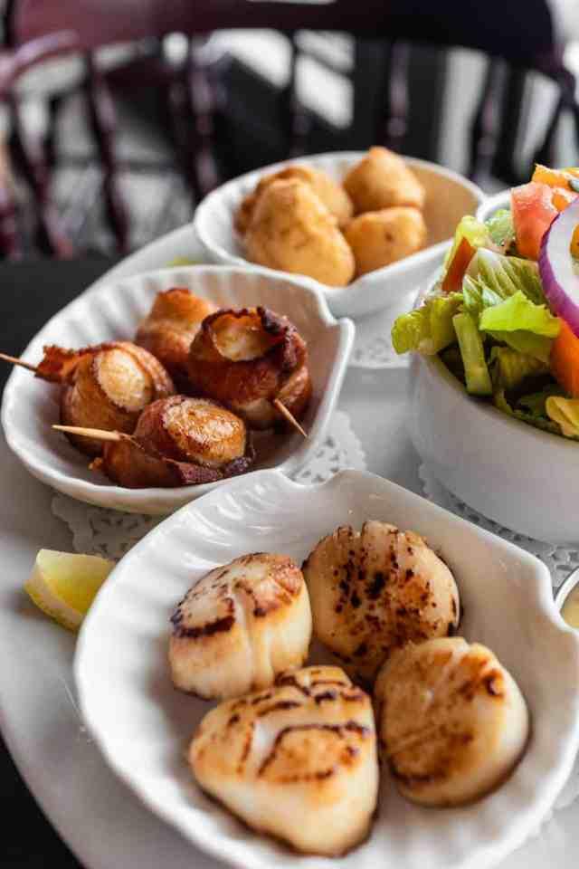 Digby scallops at Wheelhouse Nova Scotia Holidays