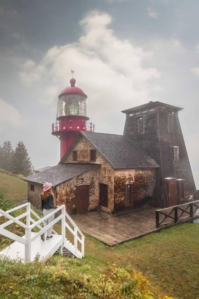 Pointe-a-la-Renommee Lighthoue Quebec Gaspesie