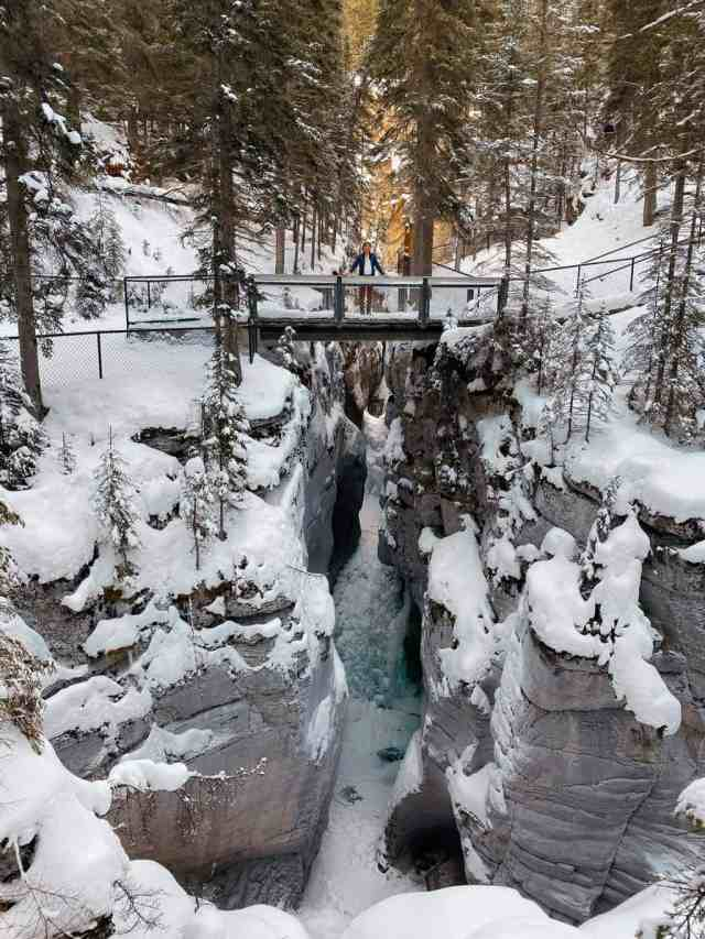 Maligne Canyon Winter Hike Jasper