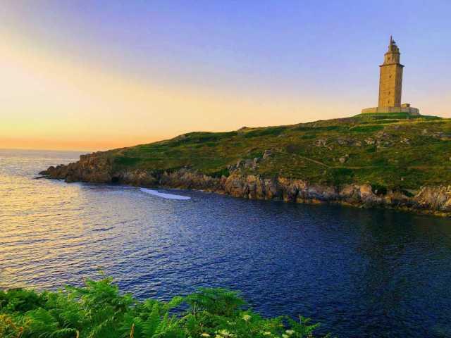 coruna coastal city in Spain