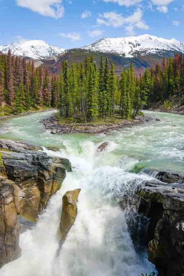 Sunwapta Falls Icefields Parkway Jasper National Park