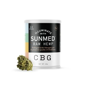 Sunmed CBD Flower – CBG Rich Raw Hemp 14g