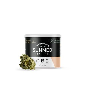 Sunmed Raw Hemp – CBD Flower  CBG Rich 7 grams