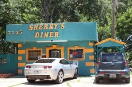 A photo of the exterior of Sherry's Diner