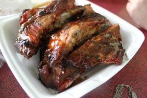 A plate of ribs from the King of Ribs
