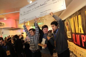 A photo of the winners of the inaugural Louisiana Film Prize