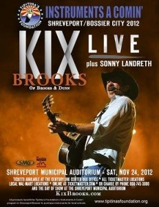 A promo poster for the Nov. 24 fundraiser concert featuring Kix Brooks