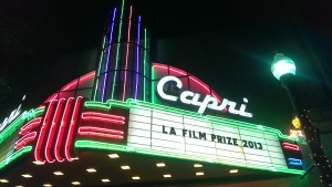 A photo of a theatre marquee
