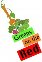 A logo for Greens on the Red