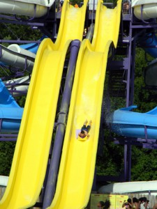 A photo of a waterslide