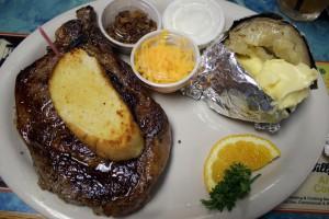 A photo of a steak