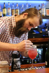 A photo of a bartender