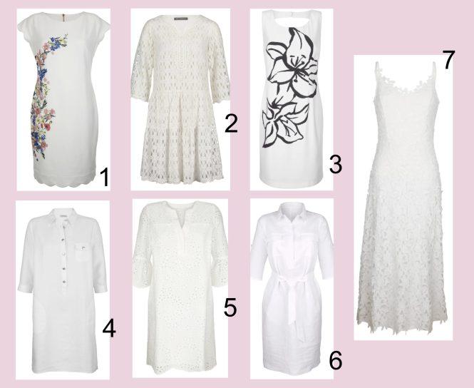 weiße Kleider Sommertrend 2021