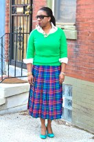 10. Plaid Pleats
