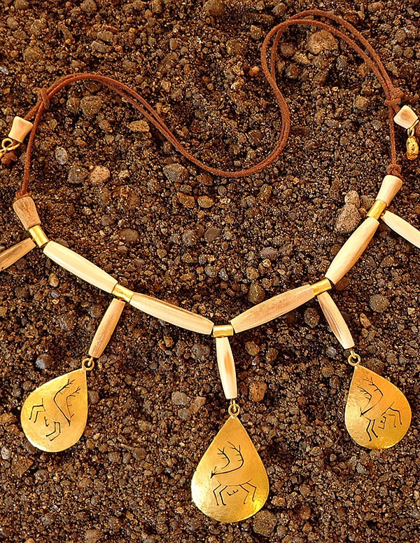 Shaman's caribou amulet necklace