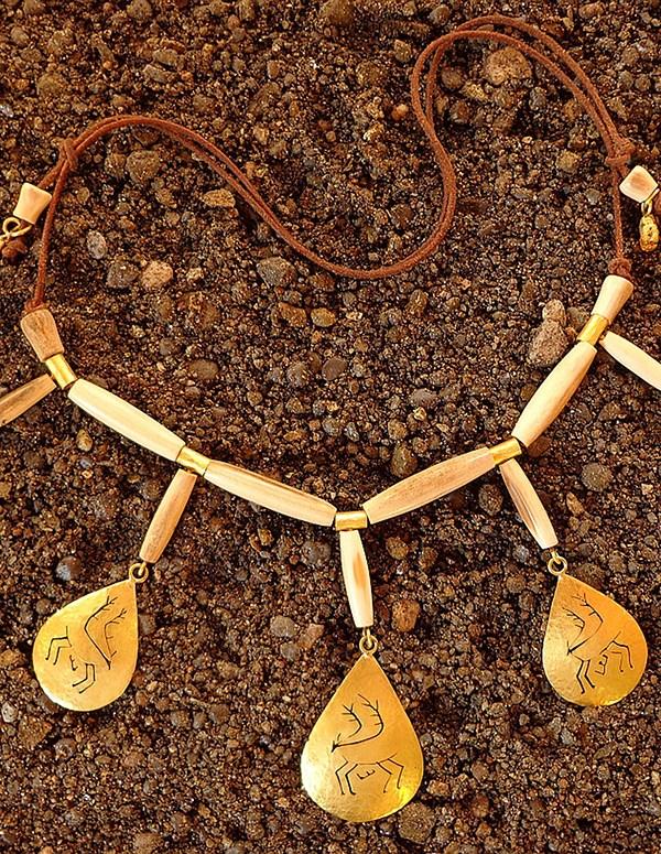 Shaman's caribou amulet necklace