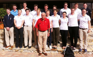 ARNOLD PALMER WITH ST ANDREWS STUDENTS JAN 2013