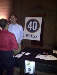 Forty Press table at Killer Cocktails