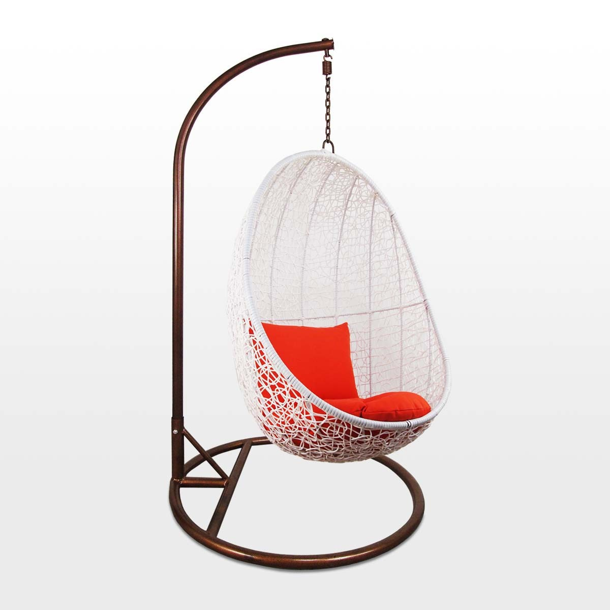 Cocoon Chair White Cocoon Swing Chair Orange Cushion Outdoor Garden