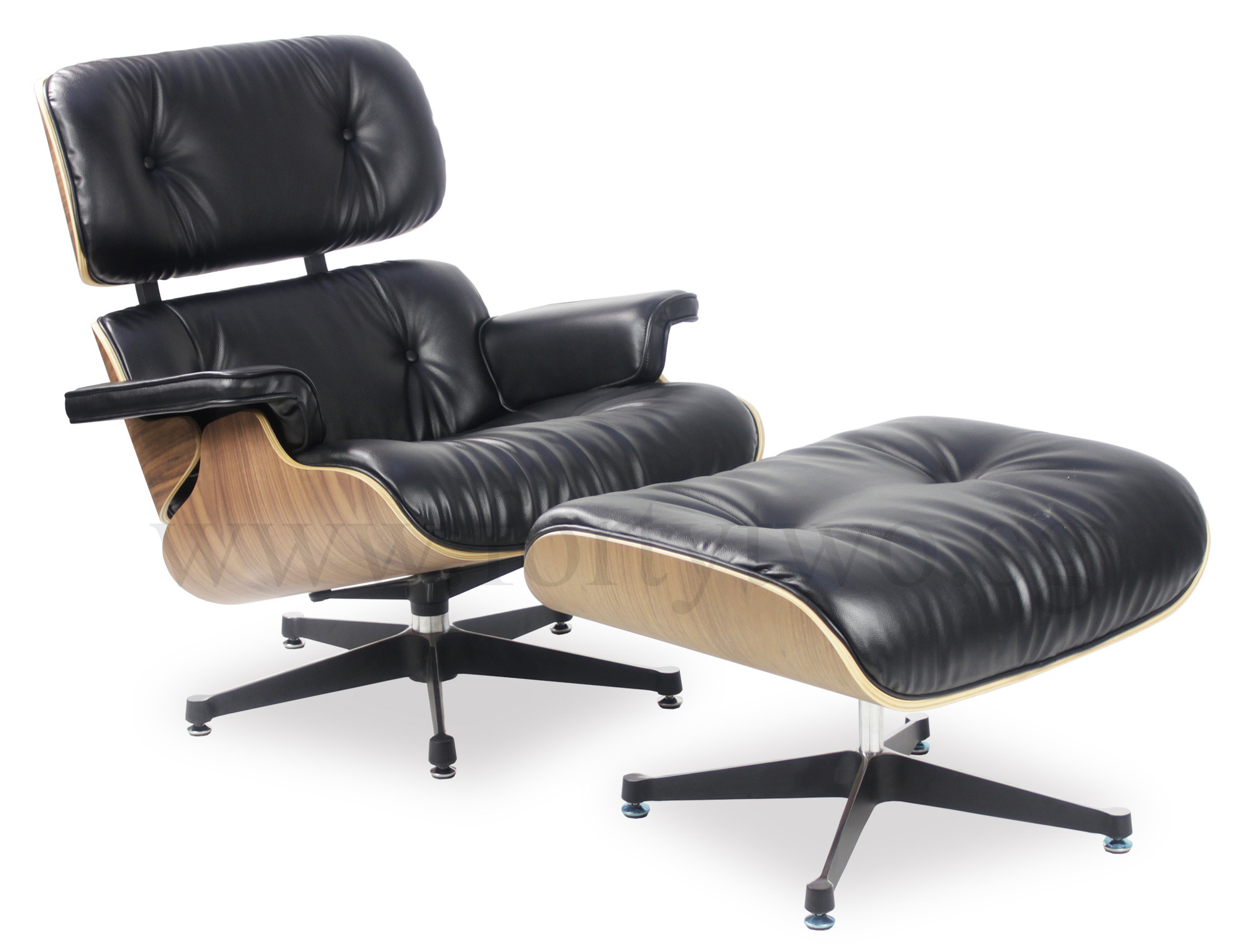 Designer Chair Designer Replica Eames Lounge Chair Black Leather