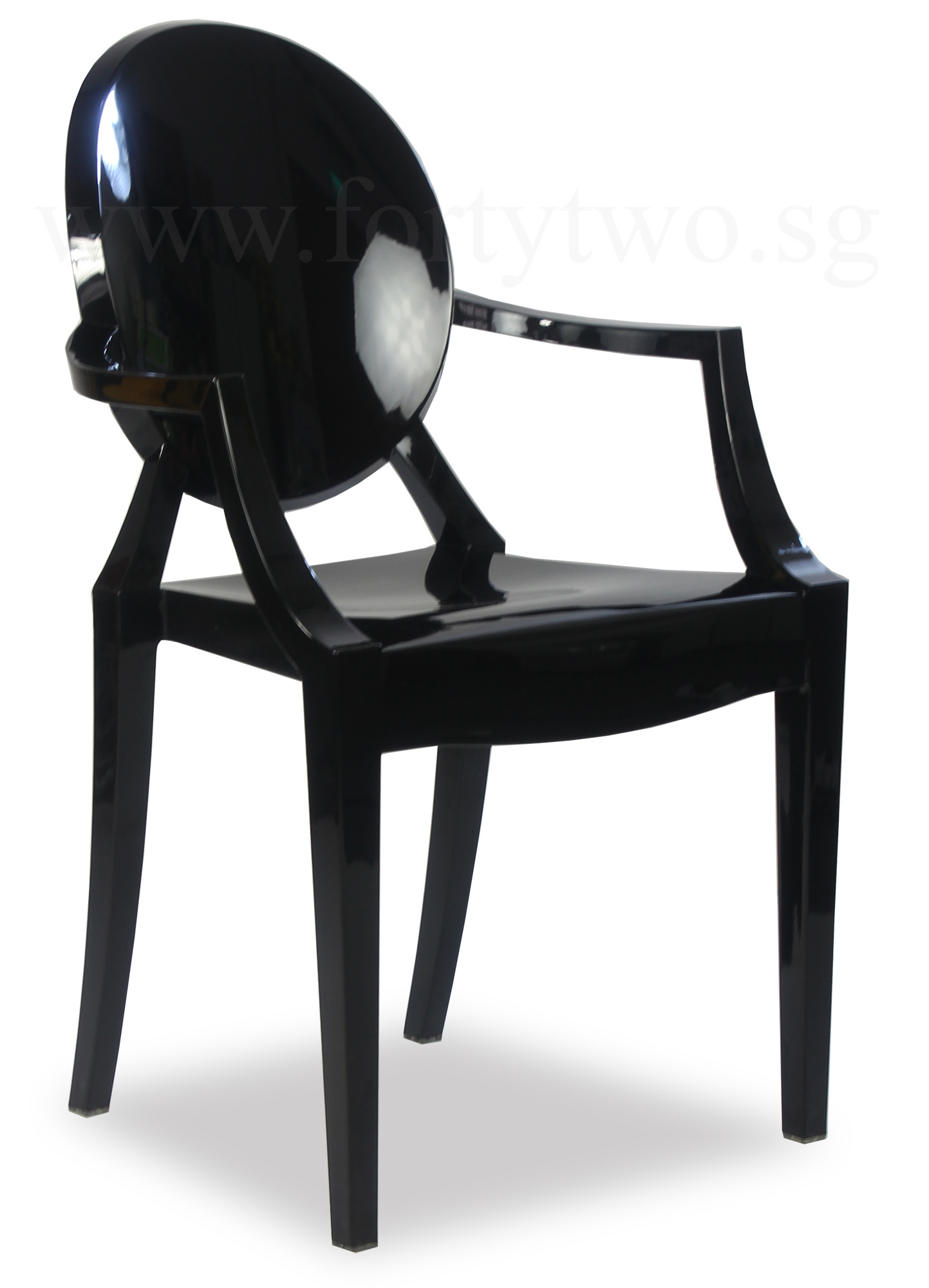 Ghost Chair Replica Designer Replica Louis Ghost Arm Chair Black Furniture