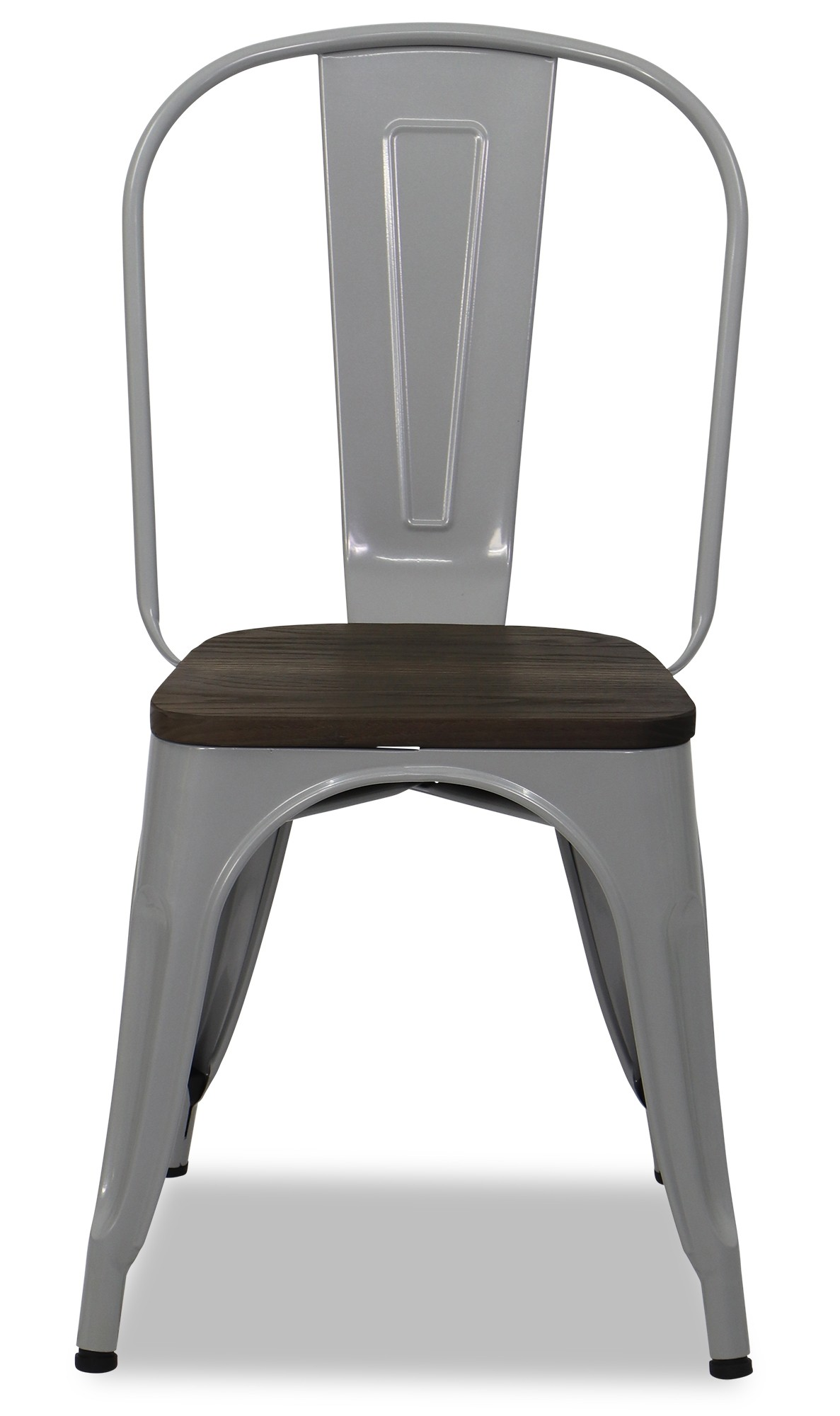 Metal Chair With Wood Seat Retro Metal Chair With Wooden Seat In Grey Furniture