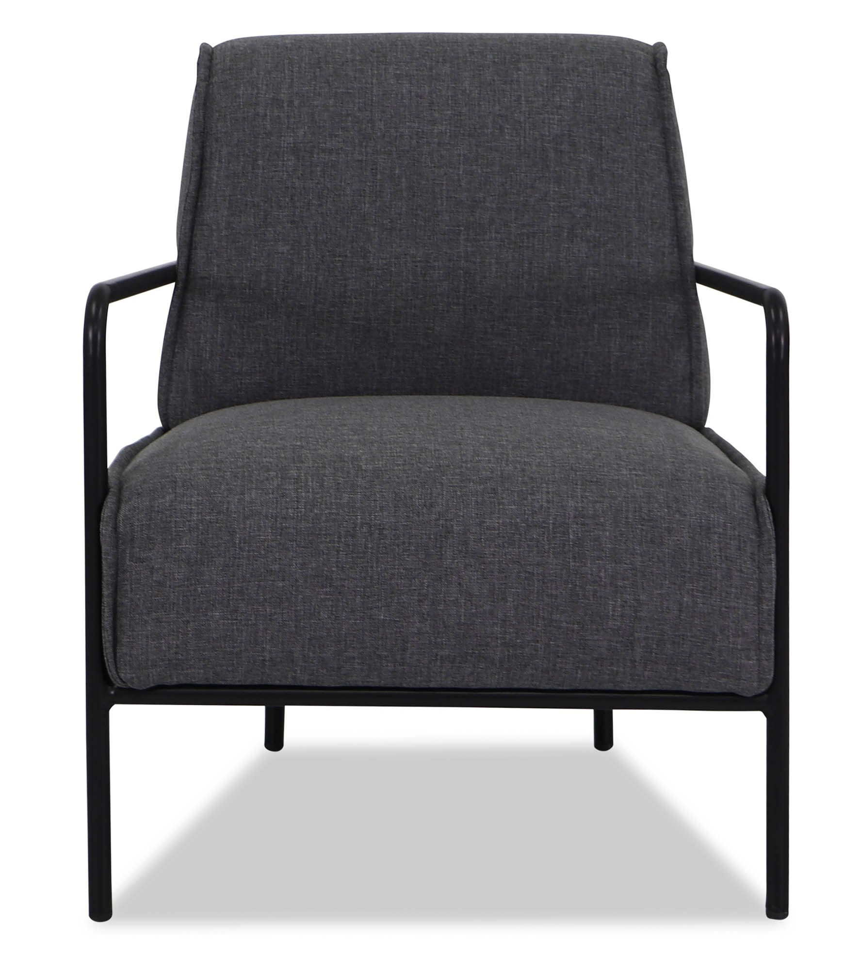 Armchairs & Accent Chairs Keahi Armchair In Stone Grey With Black Iron Stand