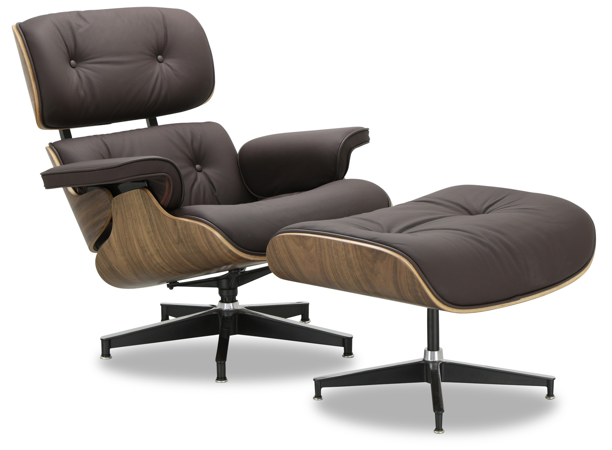 Brown Leather Chairs Designer Replica Eames Lounge Chair Dark Brown Leather