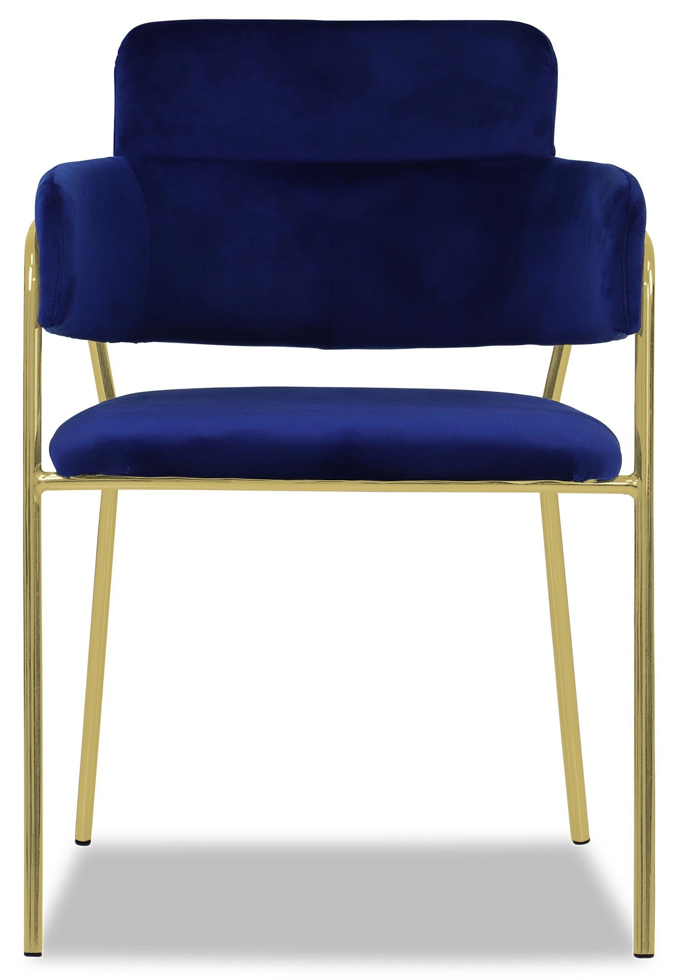 Royal Blue Chair Emmiel Chair With Gold Legs In Royal Blue
