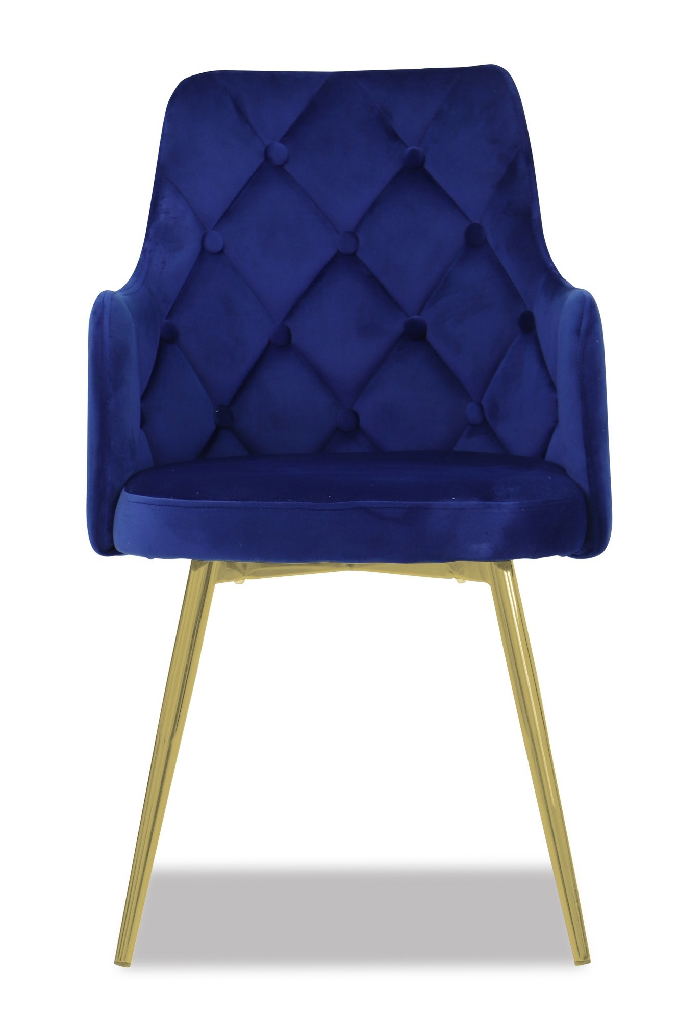Royal Blue Chair Laurie Chair With Gold Legs In Royal Blue