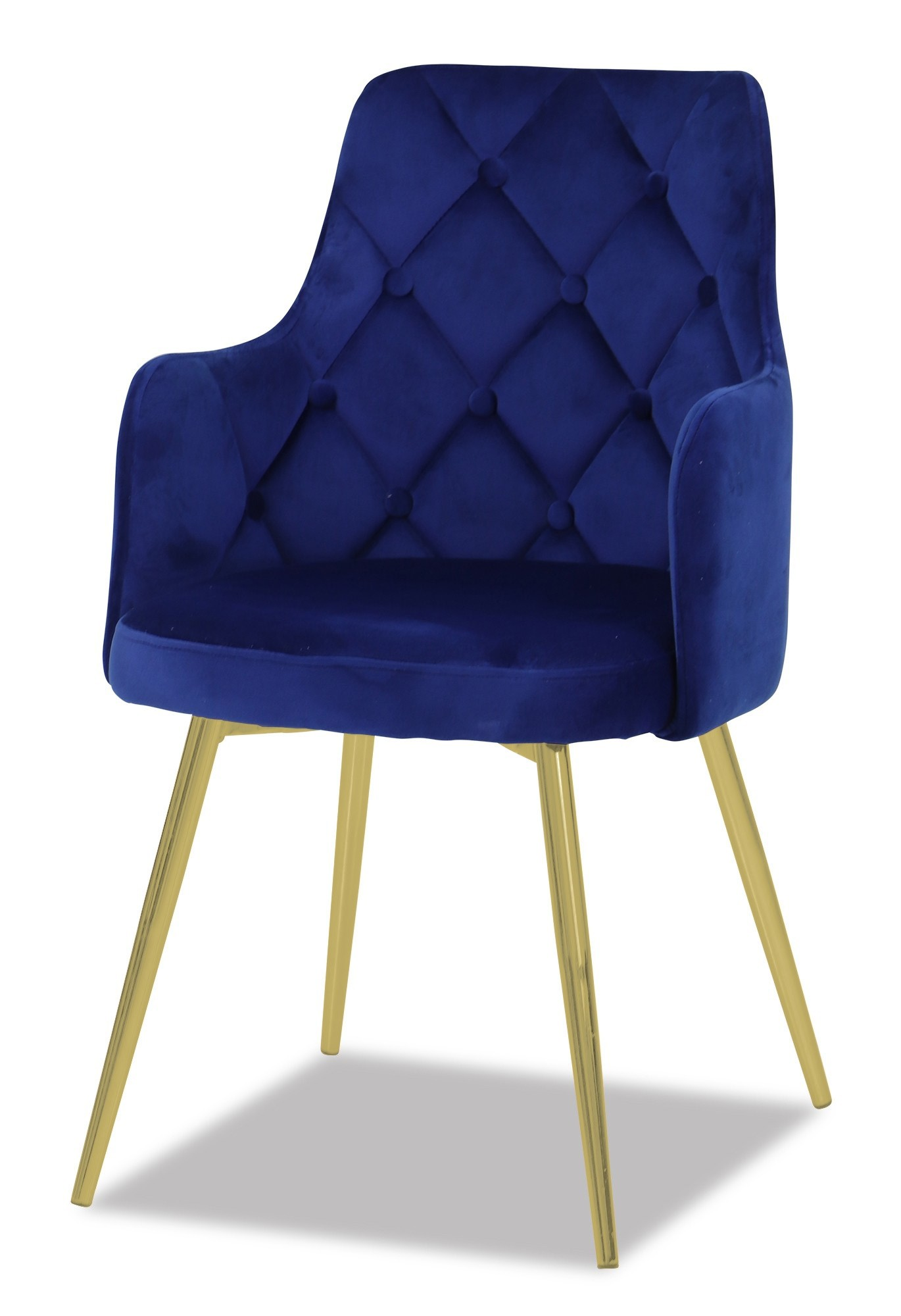 Cobalt Blue Chair Laurie Chair With Gold Legs In Royal Blue