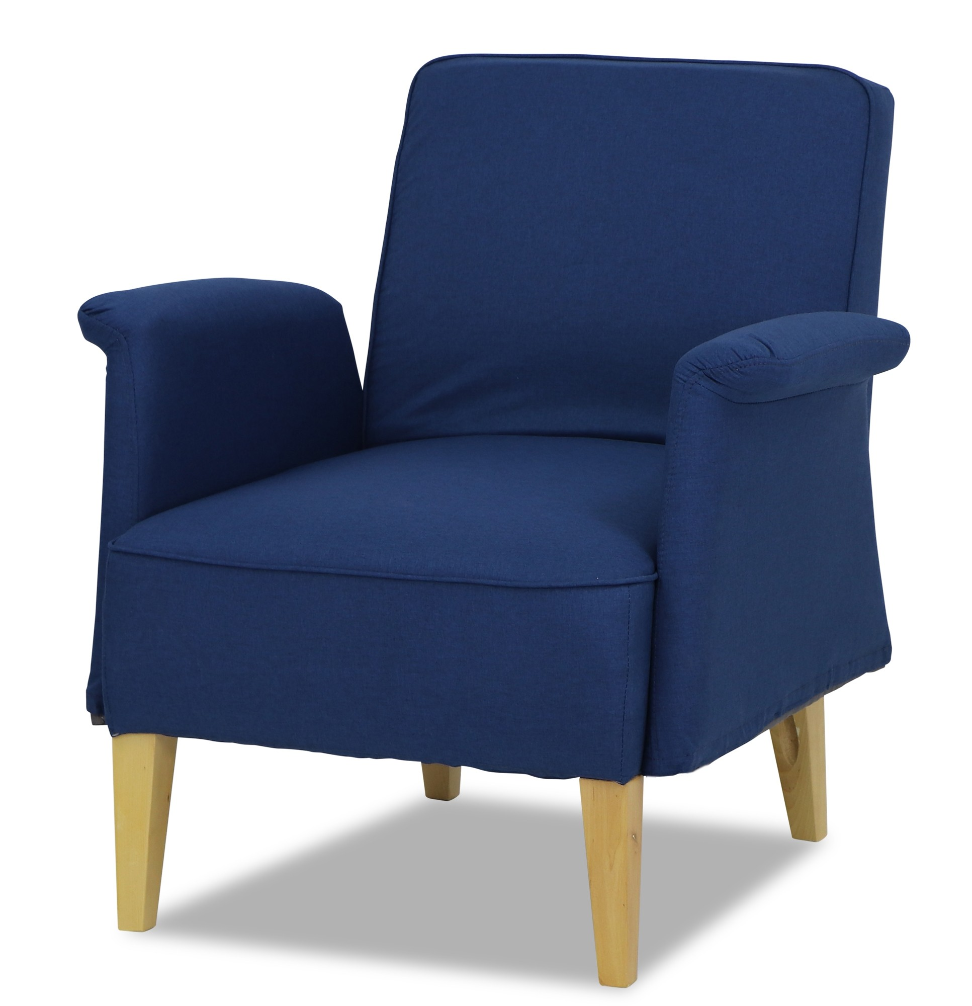 Armchairs & Accent Chairs Marzena Arm Chair In Midnight Blue Armchairs And Accent