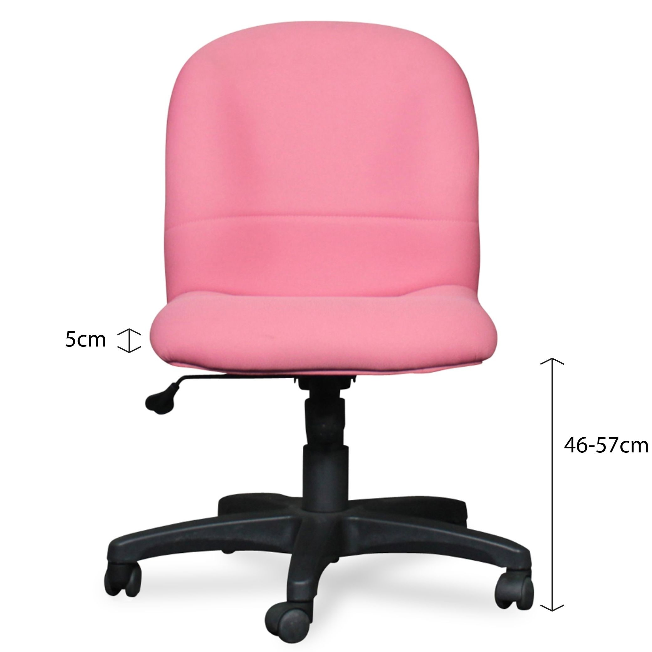 Pink Office Chairs Rina Low Back Office Chair
