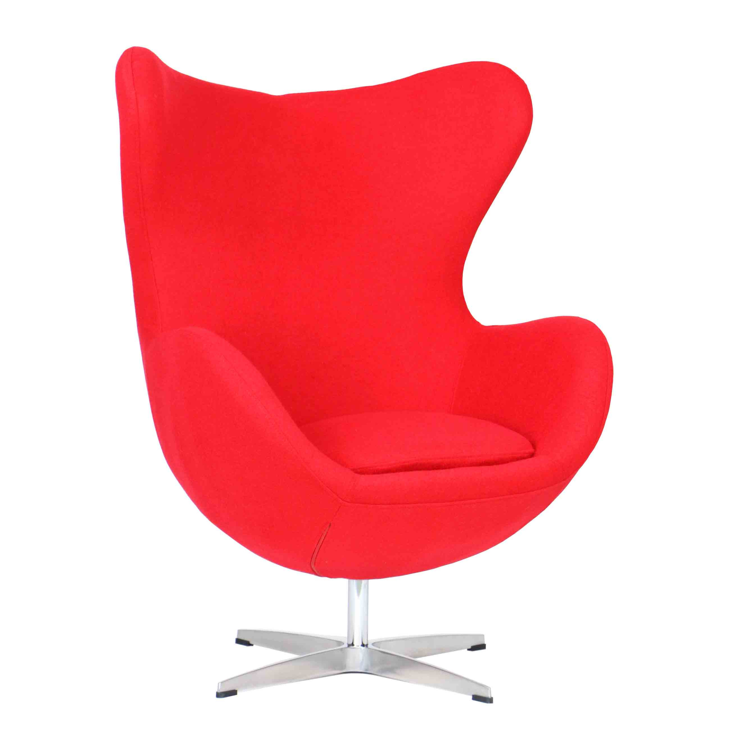Egg Chair Prices Designer Replica Egg Chair In Red Furniture And Home Décor
