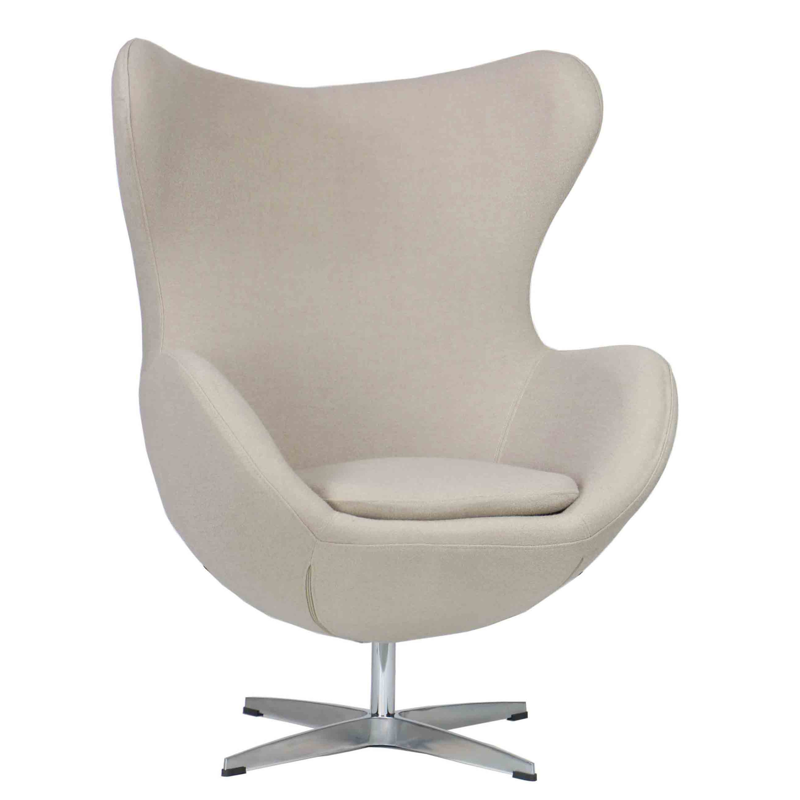 Affordable Egg Chair Designer Replica Egg Chair In Cream