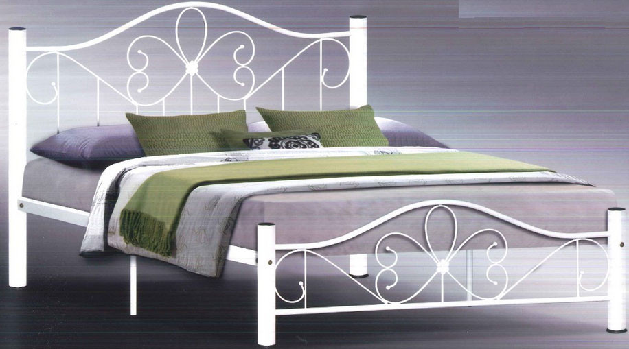 Lassirra Bed Frame In Queen Size (White)
