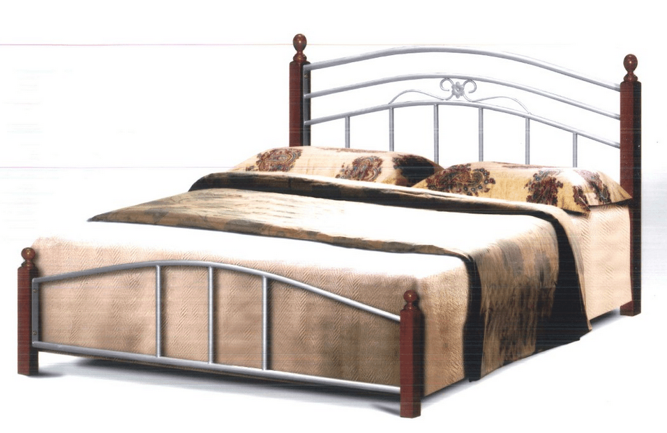 Bishop Bed Frame In Queen Size (Silver)