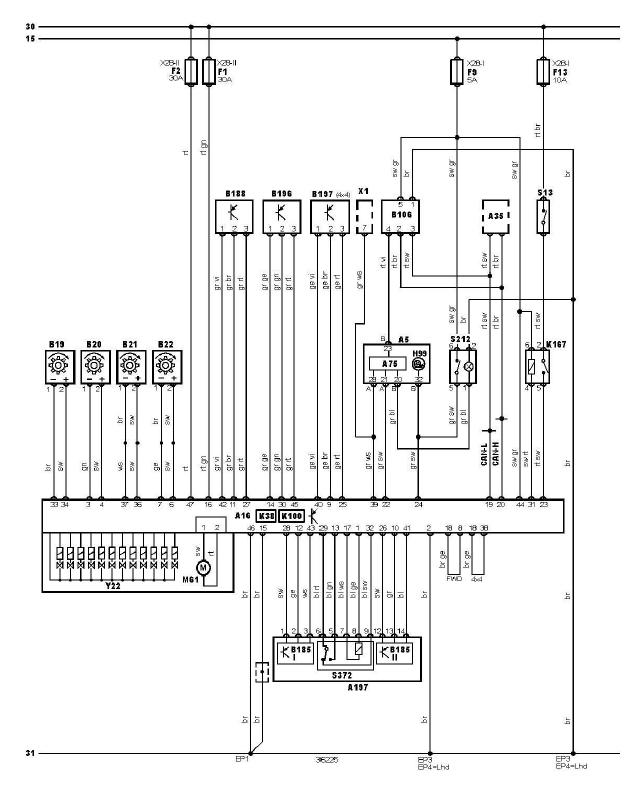 schéma et câblage ABS antipatinage ESP audi a3 1.6 l
