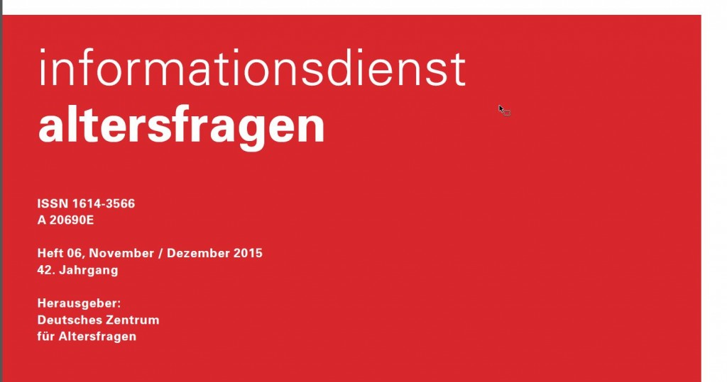 Cover Infodienst Altersfragen 12/2015