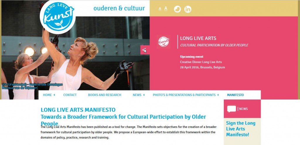 Screenshot Long Live Art Manifesto