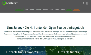 Screenshot der Limesurvey Website