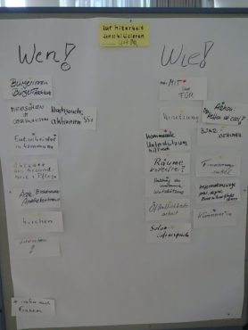2. Metaplanwand WS: Nachbarschaftshilfe (Wolfgang Wähnke)