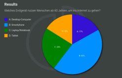 Umfrageergebnisse als Kuchen-Diagram