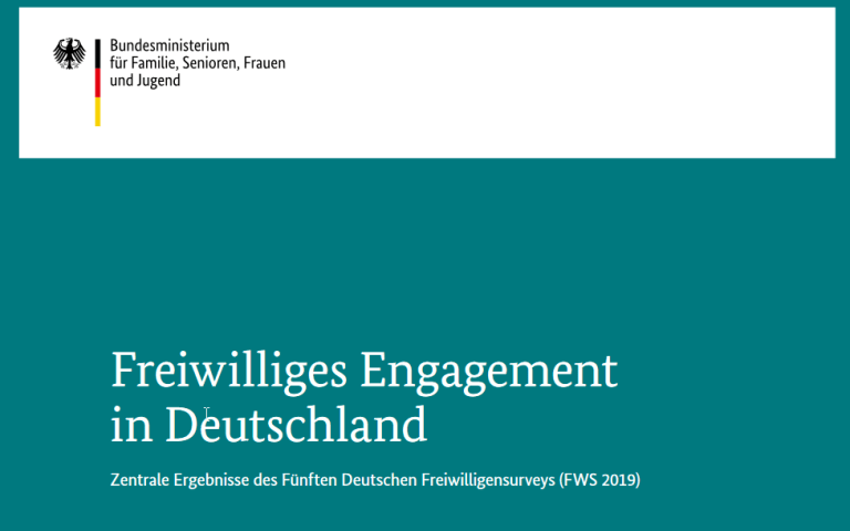 Cover der Kurzfassung des dt. Freiwilligensurveys 2019