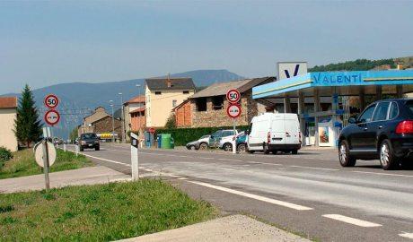 La N260 al seu pas per Montferrer i Castellbò