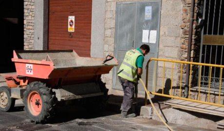 Un treballador de la construcció