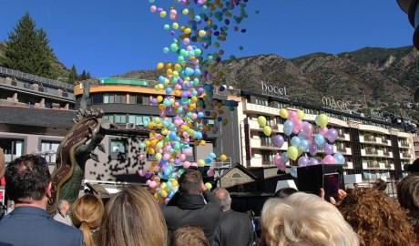 Un espectacle durant una edició de l'Andorra Shopping Festival
